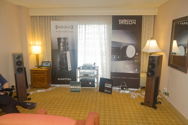 Audio Physic speakers and Trigon music server and amp