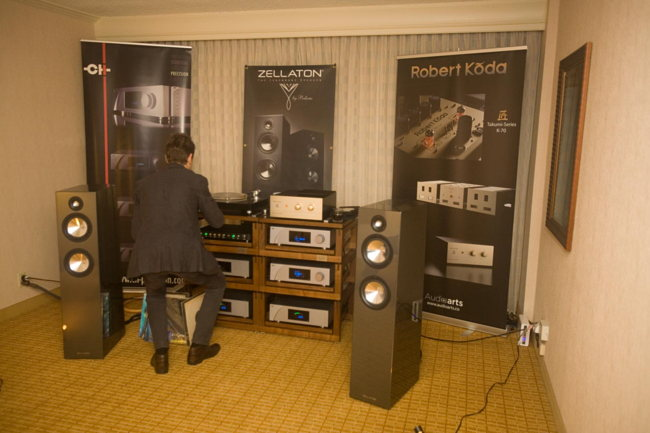 Zellaton speakers on CH Precision electronics